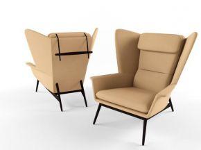 现代皮革休闲椅