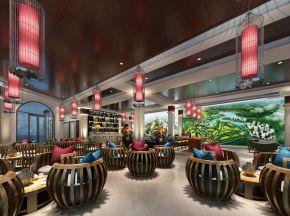 新中式个性售楼中心洽谈区