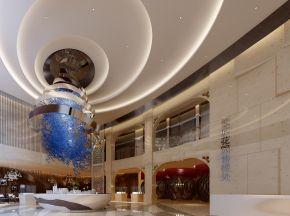 现代风格售楼处大厅/前台/洽谈区整套