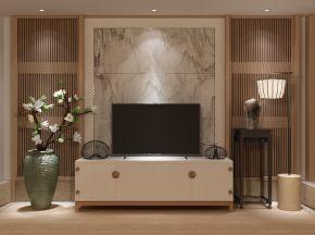 新中式电视柜陈设品组合