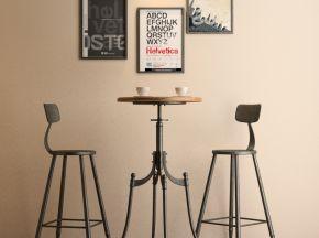 北欧工业风吧台椅组合