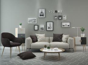 北欧简约沙发茶几组合