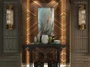 新中式风格玄关柜摆设品组合