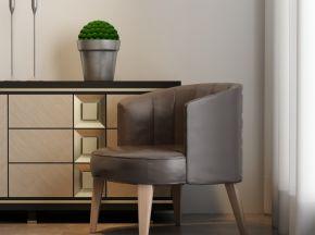 现代简约单椅电视柜组合