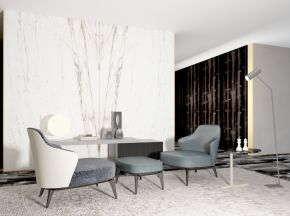 现代简约单人沙发组合