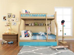 现代双层床儿童玩具组合