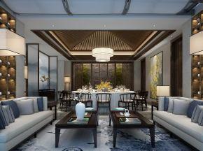新中式饭店餐厅包厢
