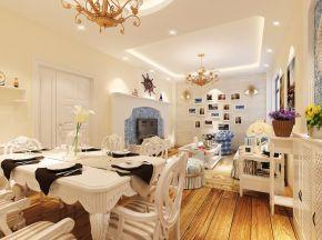 美式田园客厅餐厅