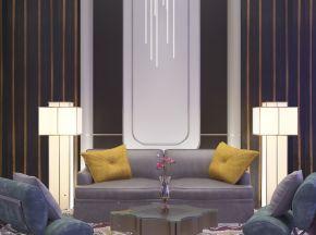后现代简约沙发茶几组合