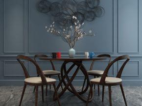 现代简约桌椅组合