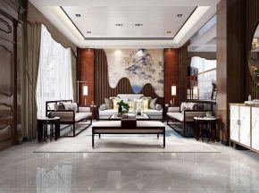 新中式别墅客餐厅