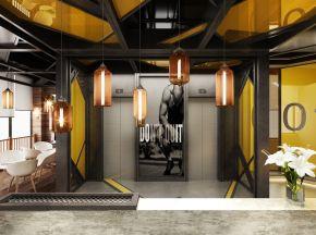 现代工业风格健身房