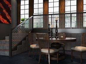 圆形餐桌椅子家具组合