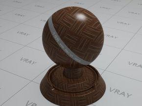 深棕色木地板