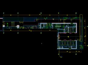 酒店地下一层平面、立面图、门