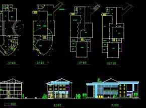 休闲中心建筑施工图