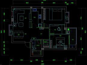 现代温馨家装施工图