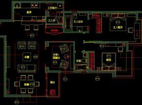 三居样板房施工图