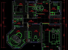 三居室平面设计图