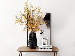 现代花瓶装饰画组合