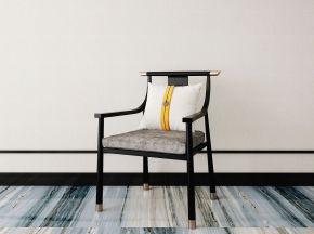 新中式单人椅
