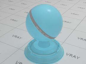 淡蓝色半透明塑料材质