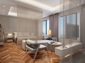 现代风格酒店客房模型