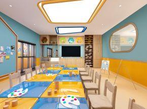 现代风格幼儿园美术室