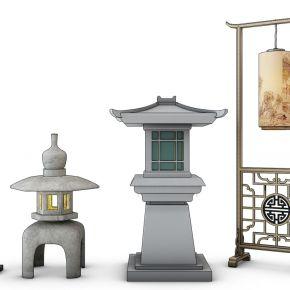 中式落地灯石灯