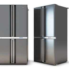 黑色电冰箱