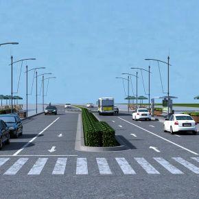 现代道路绿化
