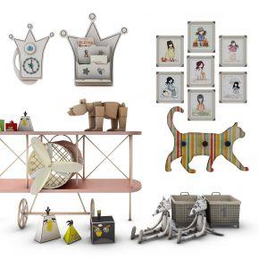 儿童创意边柜玩具组合