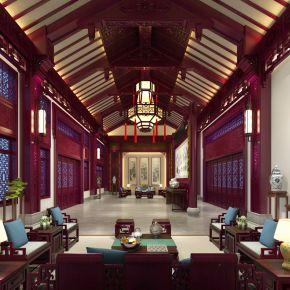 中式风格古建筑室内