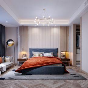 2020-现代卧室-夜景表现