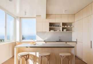 自然原木色厨房空间