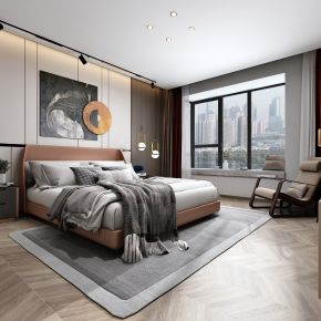 艾巴优-2020VIP学员投稿作品-现代卧室