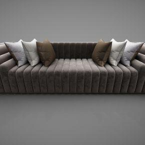现代风格多人沙发