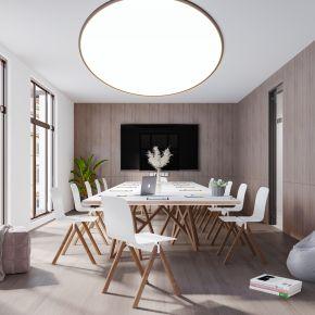 现代简约北欧轻奢风格会议室