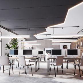 现代简约北欧轻奢风格办公室办公区