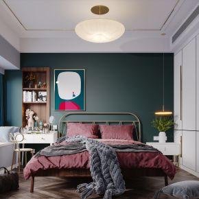 北欧现代简约轻奢风格卧室