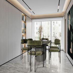 现代简约客餐厅