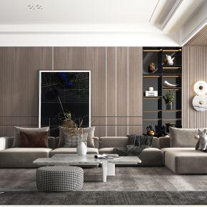 现代风格的客厅