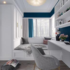 美式现代简约轻奢风格榻榻米卧室
