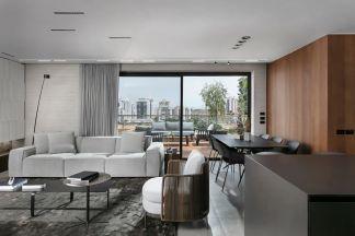 以色列极简美学-现代客厅