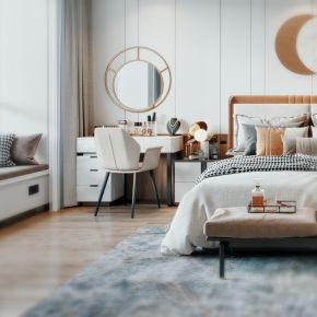 现代轻奢卧室模型