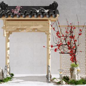 新中式牌坊  屋檐