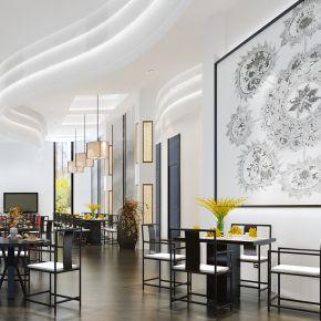 新中式现代简约风格餐厅大厅