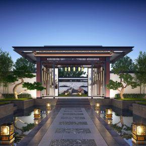 新中凉亭庭院景观