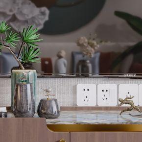 新中式现代简约轻奢风格客厅