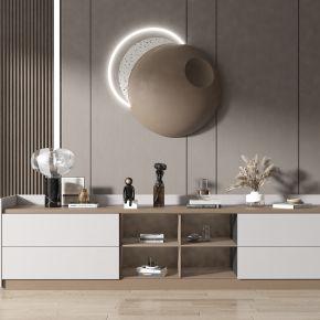 现代风格电视柜,饰品摆件,墙饰